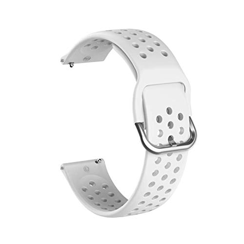 PZZZHF Banda de Reloj de Silicona Suave de 20 mm para Huawei Honor Watch ES Strap Strap Pulsera Pulsera Pulsera para la Pulsera de Venu Garmin Nuevo (Band Color : Gray, Band Width : 20mm)