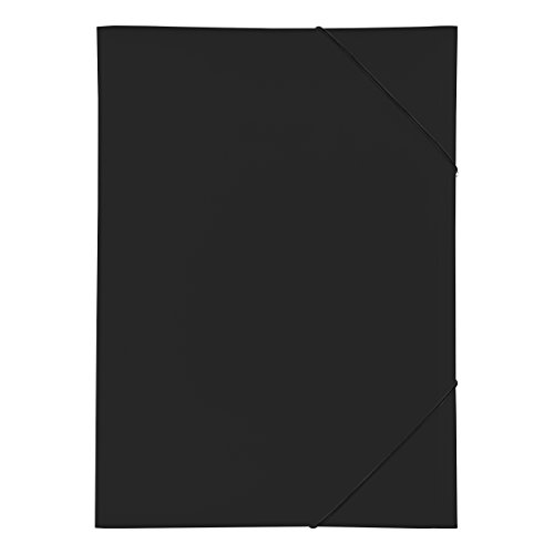 Pagna 21638-01 Gummizugmappe PP 3 Einschlagklappen, A3 schwarz