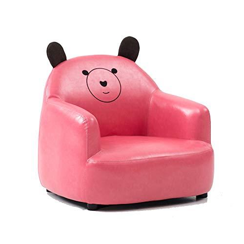 LYQZ Cute Animal Shape Small Sofa Child Lazy Seat Cartoon Leather Comfortable Single Chair 54×56cm (Color : D)