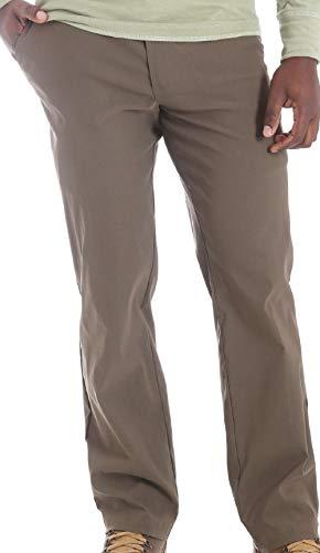 "Wrangler Mens Pants Size 40"" x 30"" Fleece Lined Outdoor Straight fit Water Repellent UPF30 Lightweight Performance Grey"