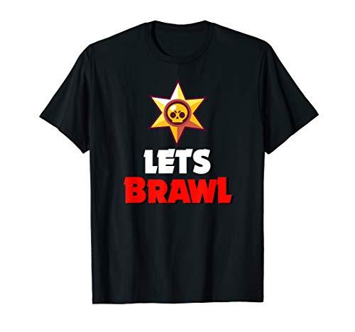 Lets Brawl - Totenkopf im Stern für Stars T-Shirt