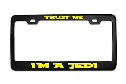 Mark Reynolds Trust ME I'm Jedi Star Wars Black Metal Steel License Plate Frame Tag