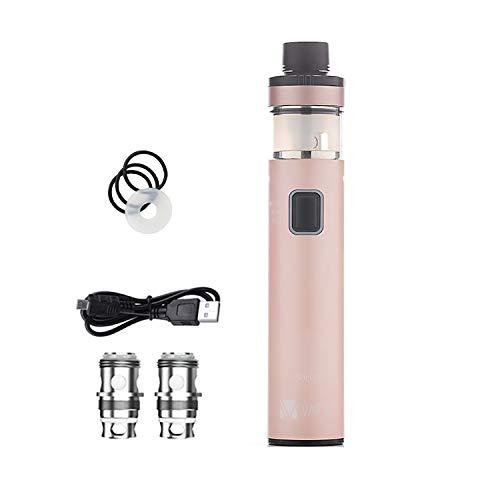 Vape Pen Starter Kit Vaptio Solo 2 KIT con 3000mAh Batería 4.0ml Core Todo en uno Estilo Vaporizador de cigarrillo electrónico No E Liquid No Nicotine (Oro Rosa)