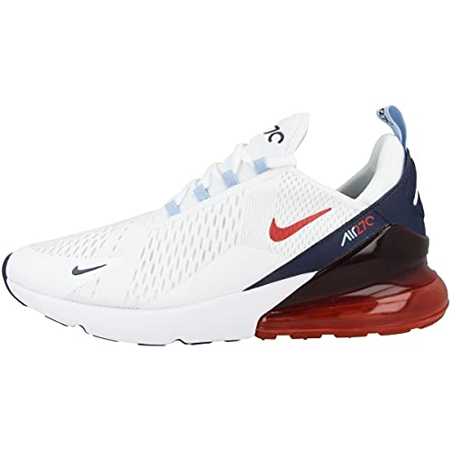 Nike Jungen Air Max 270 (Gs) Scarpe da ginnastica, White Midnight Navy Psychic Blue Chile Red, 47 EU