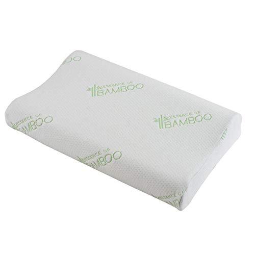 unknow Contour Memory Foam Pillow Orthopädische Kissen gegen Nackenschmerzen Ergonomisches Zervixkissen für Seitenschläfer mit abnehmbarem waschbarem Kissenbezug-2St_50 * 30 * 10