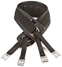 William Hunter Equestrian HyCOMFORT Humane Waffle Girth (Choose from Colours Black or Brown and a Range of Sizes) - Easy to Fasten and Helps Eliminate Over Tightening.