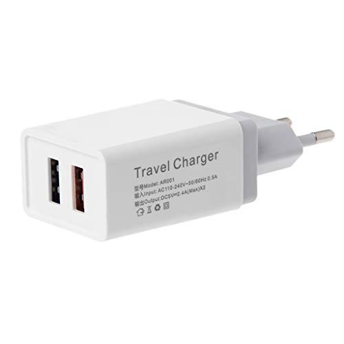 JHD 1 2 3 Puerto USB 5V 2.4A Cargador de Viaje Adaptador de Corriente Enchufe de la UE para teléfono Tablet PC