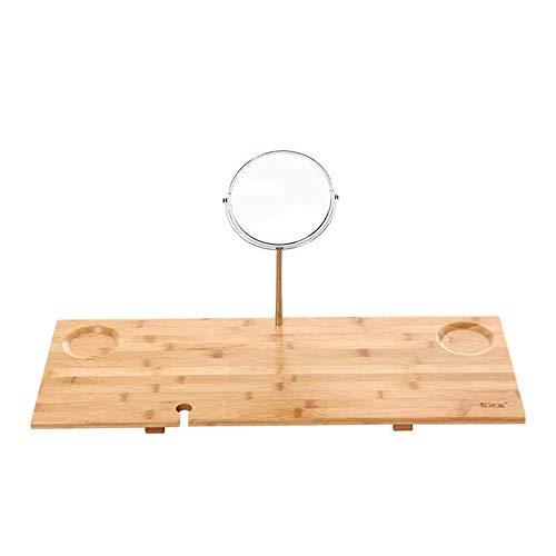 Planken DUO rekken hout bamboe bad Caddy lade met spiegel past elke Tub Racks
