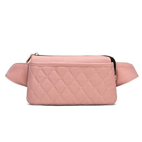 Wind Took Damen Brusttasche Bauchtasche Hüfttasche Handytasche für Party Reise Wanderung Outdoor Alltag Anti-Diebstahl, Pink, 21 x 8 x 12 cm, Klein