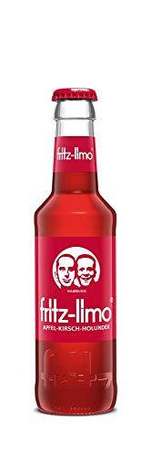 Fritz-Limo Apfel Kirsch Holunder 12 x 0,2 Liter, inkl Pfand und Versand