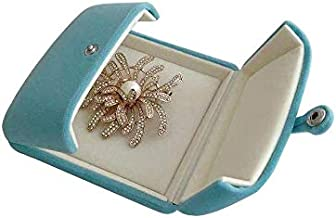 Svea Display Light Blue Aqua Luxurious High End Velvet Jewelry Case for Brooch Honorary Badge Pin Decorations Perfect Protection Presentation (Jewelry is not Included)