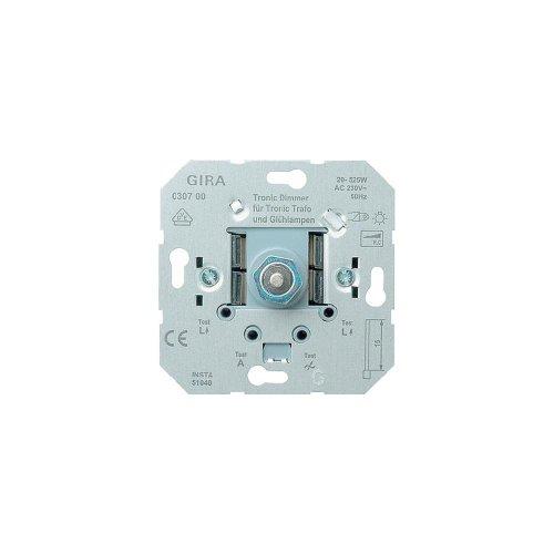 Gira Tronic-Dimmer-Einsatz mit Druck- Wechselschalter, 20-525 W, 030700