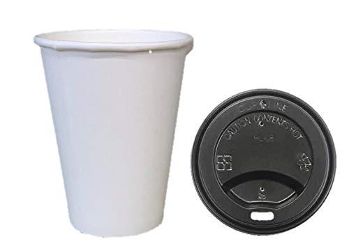 スマートマットライト ニッチプラス テイクアウト用 カフェサイズ紙コップ ホワイト 280ml 専用フタ付(穴あきタイプ) 50個入