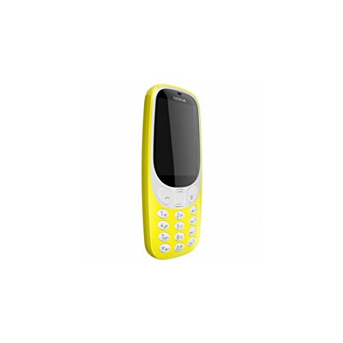 Nokia 3310 Telefono Cellulare, Memoria Interna da 16 MB, Giallo, Single SIM [Italia]