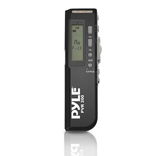 Pyle B00GH9N2EE Digitaler Sprachrecorder mit 4GB integriertem Speicher/Kopfhöreranschluss/LCD Display/Eingebauter Lautsprecher