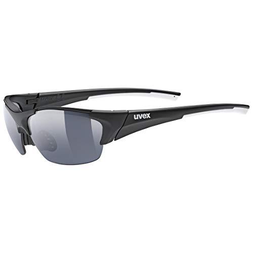 uvex Unisex– Erwachsene, blaze III Sportbrille, inkl. Wechselscheiben, black mat/smoke, one size
