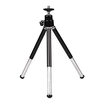 Pasavant Lightweight Tripod for Webcam Mini Tripod Desktop Tabletop Tripod Stand