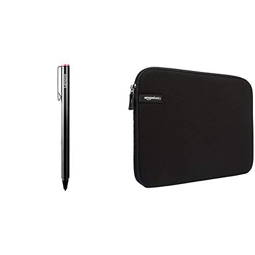 Lenovo GX80K32884 20g Schwarz Eingabestift - Eingabestifte (20 g, 9,5 mm, 140,6 mm) & Amazon Basics Schutzhülle für Laptops mit Einer Bildschirmdiagonale von 35,8cm (14Zoll)