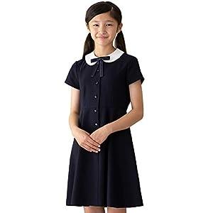 [CHOPIN(ショパン)] 子供 女の子 フォーマル 8936-9500 半袖 丸衿ワンピース (150, ブラック)
