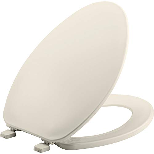 BEMIS 170 346 Toilet Seat, ELONGATED, Plastic, Biscuit/Linen