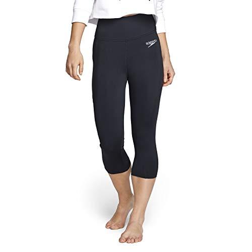 Speedo Pantalón Capri para Mujer, Mujer, Pantalones Pirata, WCAPRIYOGAPANT, Nuevo Speedo Black, L