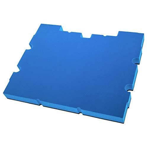 vhbw Pieza de espuma compatible con Stanley TSTAK IV FMST1-71969 caja de herramientas - espuma rígida, negro - azul, 30mm