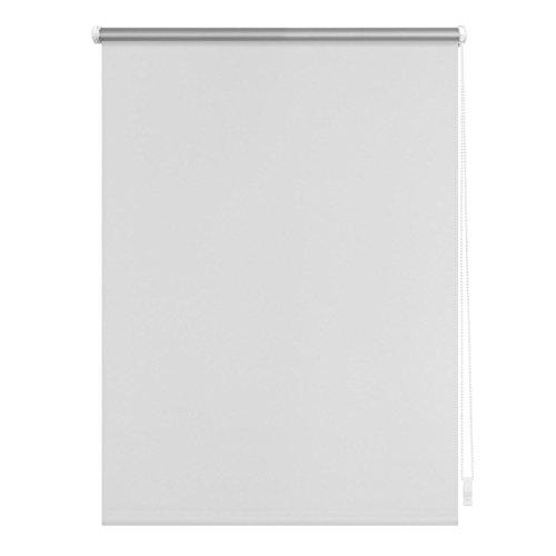 Lichtblick Verdunklungsrollo Klemmfix, 100 cm x 150 cm (B x L) in Weiß, ohne Bohren, Sonnen-, Sicht-, Hitze- & Kälte-Schutz, reflektierende Thermo-Rollo Funktion, Verdunkelung für Fenster & Türen