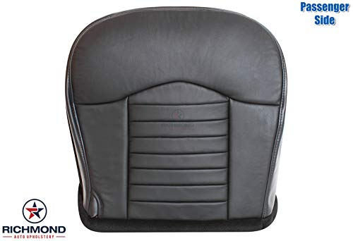 Richmond Auto Upholstery - Passenger Side Bottom Replacement Leather Seat Cover, Black (Compatible with 2000 Ford F-150 F150 Harley Davidson Edition Supercharged)
