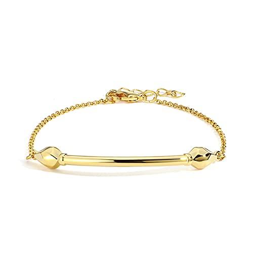 Chengxun Pulsera de serpiente para mujer, chapada en oro de 14 quilates, pulsera de serpiente de doble cabeza, joyería de fiesta