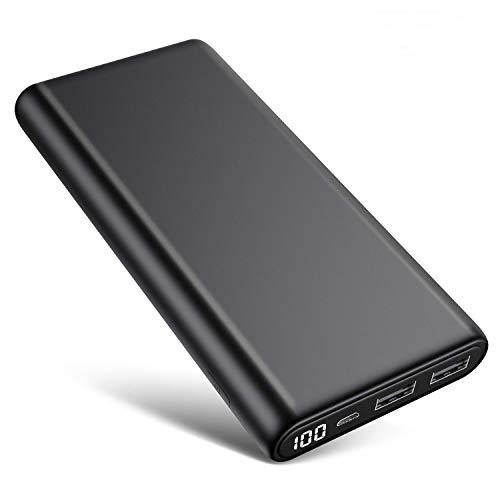 Trswyop Power Bank 26800mAh, Versione Migliorata Caricabatterie Portatile con LED Digitale Display Batteria Esterna Portatile Rapida (2.1A+1A) con 2 USB Porte per Cellulare, Tablet e Altri