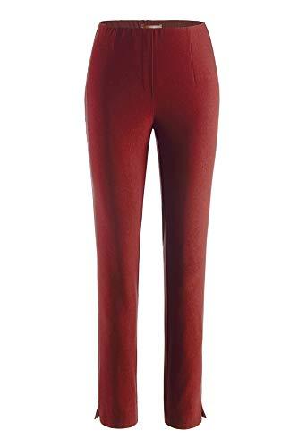 Stehmann - Stretchhose INA 800 - die Lange Hose - Gerade Pull-On Hose mit Schlitz, Bengaline - IBL 80 cm, Hosengröße:36, Farbe:Campari