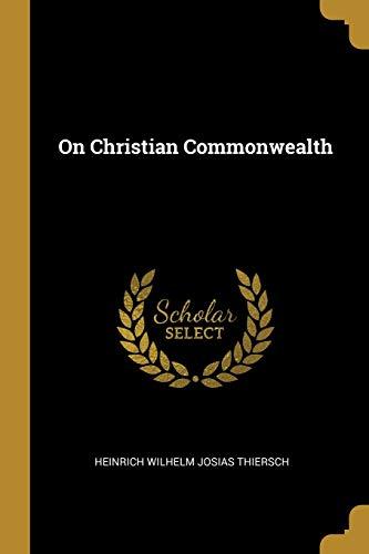 ON CHRISTIAN COMMONWEALTH