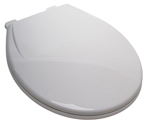Plum Best C5c3r1s-00 White Plastic Ez Close Round Toilet Seat With Closed Front