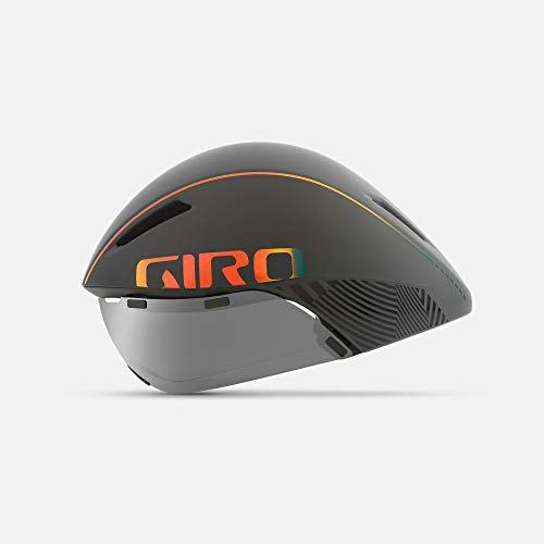 Giro Unisex's Aerohead MIPS Aero/Tri Cycling Helmet, Matt Grey/Fire Chrome, Medium (55-59 cm)