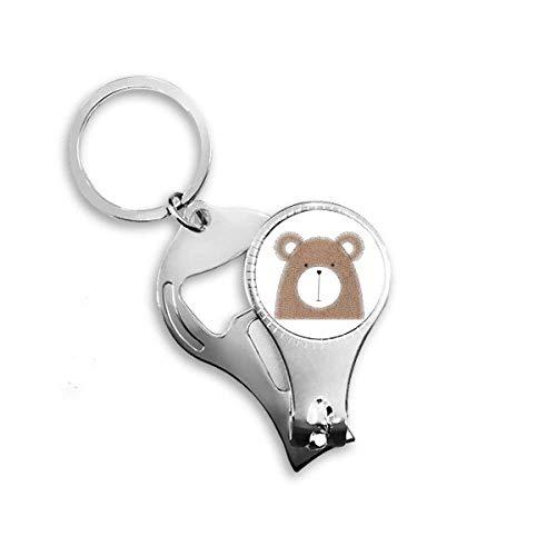 Simplicity Style Chubby Bear Tiernagelknipser Ring Schlüsselanhänger Flaschenöffner Clipper