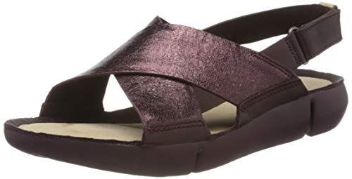 Clarks Damen Tri Chloe Sneaker, Braun (Burgundy Leather Burgundy Leather), 39.5 EU