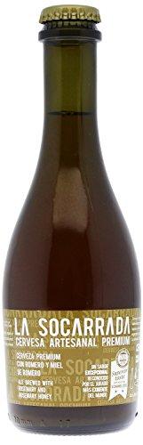 Cerveza artesanal premium La Socarrada, botella de 33 cl, triple malta, doble fermentación, elaborada con romero y miel de romero