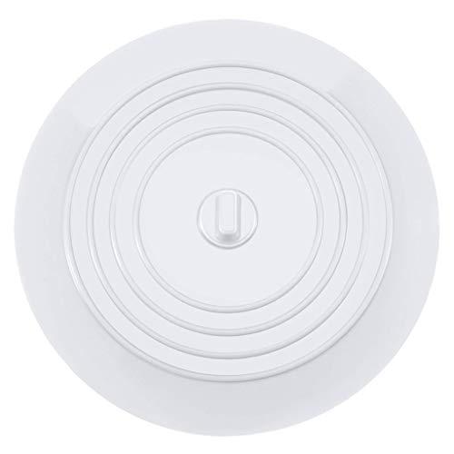 Luccase 2 Stücke Bodenablauf Abdeckung Kit 15 cm Durchmesser Runde Silikon Lebensmittelqualität Universal Badewanne Boden Ablassen Abdeckung Waschbecken Stecker (Weiß)