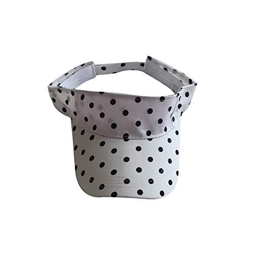 QQSA De Lunares de algodón Nueva Tenis Caps Mujeres con Estilo de la Playa de Deportes Visera del Sombrero del Golf Casquillos del Verano Viajes Sol Sombrero al Aire Libre del Casquillo for la Hembra ✅
