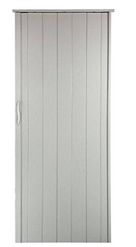 Falttür Schiebetür Tür weiss gewischt farben Höhe 202 cm Einbaubreite bis 96 cm Doppelwandprofil Neu