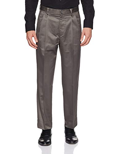 Peter England Men's Relaxed Formal Trousers (8907495246734_PTP1041601349_Medium Grey with Grey_44)