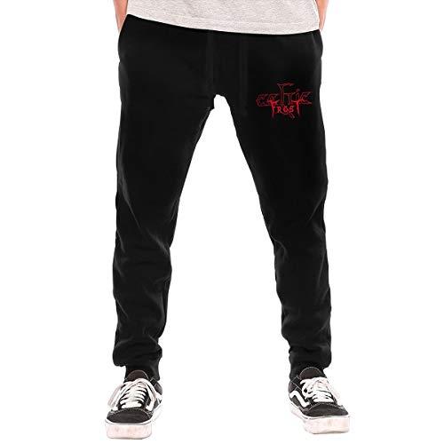 Celtic Frost Long Pants Mans Casual Workout Sweatpants Drawstring Waist Jogger Pants Black