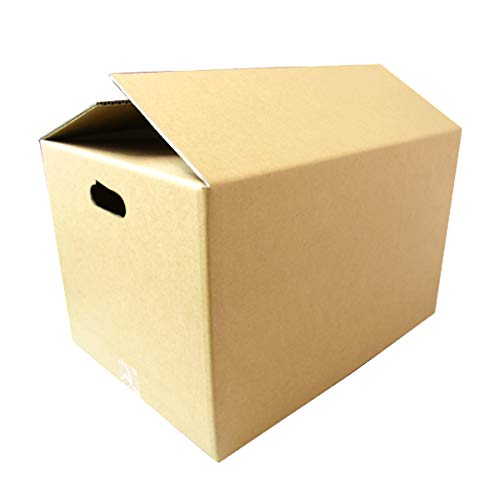 WEIMALL 取っ手穴付き ダンボール 120サイズ 510×360×320 無地 日本製 段ボール 茶色 引越し 引っ越し 120 ダンボール箱 段ボール箱 10枚セット