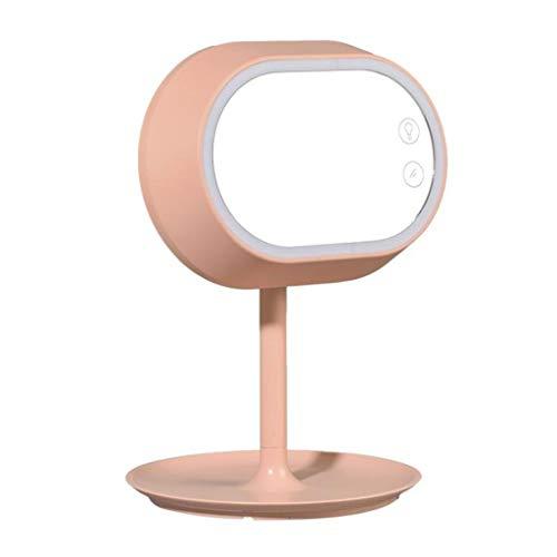 Espejo Maquillaje con Luz LED Espejo de sobremesa LED Inteligente de Control táctil táctil 2 en 1 Espejo de Mesa, con Giro de 180 Grados operado con Cargo Espejo Cosmético Iluminoso de