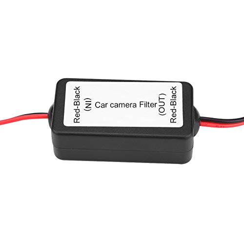 Keenso 12 V DC Leistungsrelais Kondensator Filter Gleichrichter für Auto Reverse Rückfahrkamera Schwarz