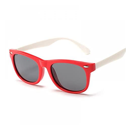 FRGH Gafas De Sol Polarizadas Clásicas para Niños Gafas De Sol De Seguridad De Silicona Niños Niñas Moda Niños Espejo