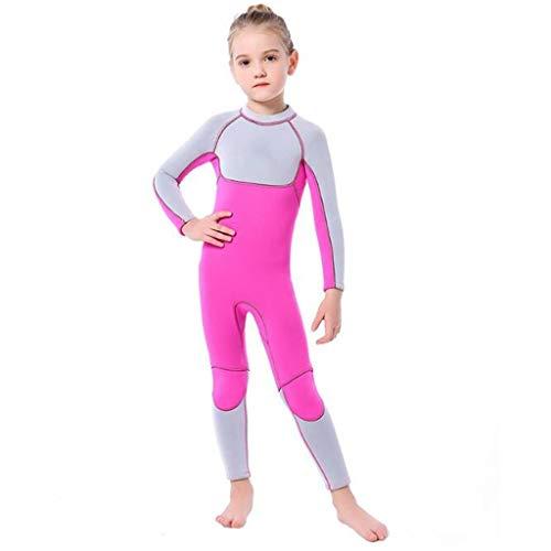 Barns badkläder 3mm barns dykning passar kvinnors långärmad varma baddräkt, UV-skydd solkräm surf maneter kostym, lämplig för bad/dykning/snorkling/surfa/pool (Color : Wetsuit 2, Size : XL)