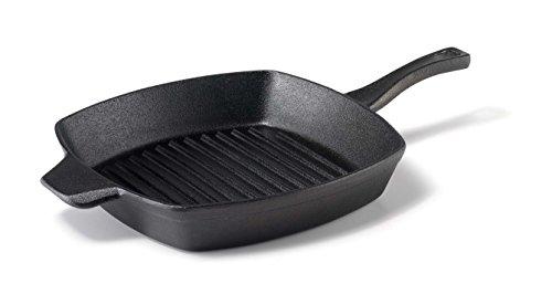 Calphalon 1873979 Pre-Seasoned Cast Iron Grill, 10', Black