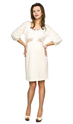Elegantes und bequemes Umstandskleid, Brautkleid, Hochzeitskleid für Schwangere Modell: Dolce, Creme, L