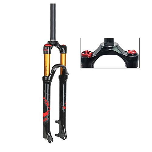 WHQ Suspension Forks 26 Inch, Mountain Bike 27.5 Inch Front Forks Magnesium Alloy Remote Control 1-1/8' Disc Brake Travel 100mm (Color : C, Size : 27.5 INCH)